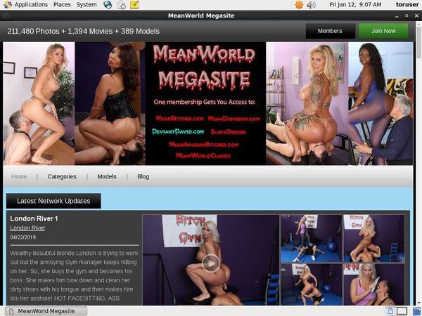 Free Accounts To Meanworld.com