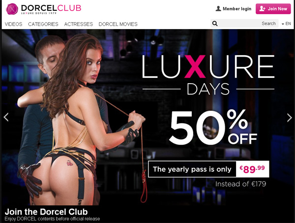 Dorcel Club Using Discount