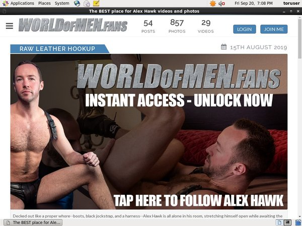 New World Of Men Fans - Alex Hawk Discount Deal