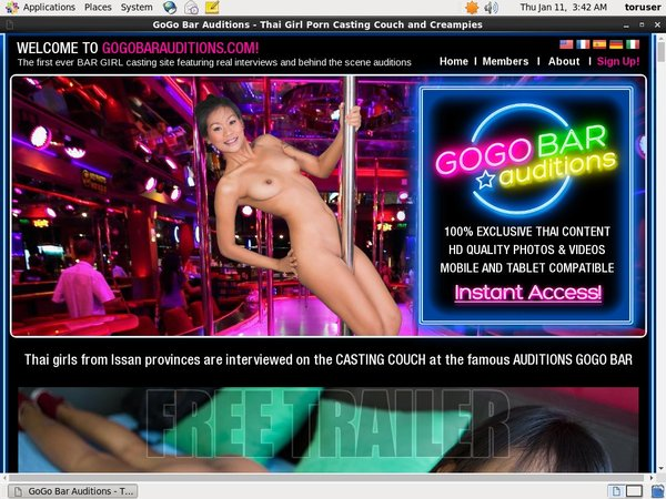 Gogo Bar Auditions Sign Up