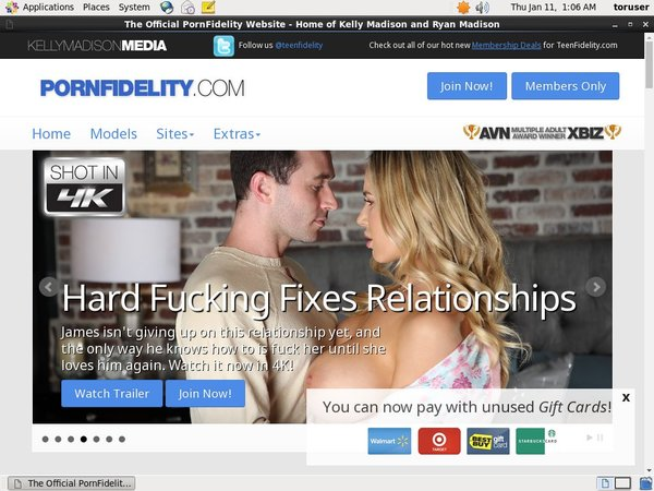 Porn Fidelity Working Pass