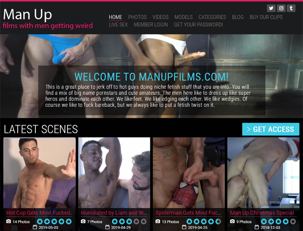 Man Up Films Model List